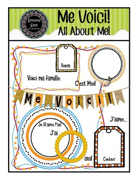 Me Voici! All About Me in French (pdf)
