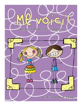 Me Voici! Back to School About Me Poster