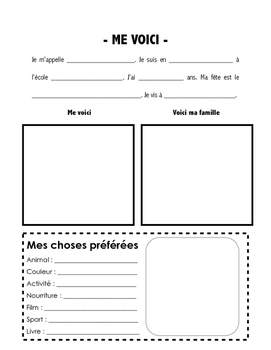 Me Voici - French Introduction Activity