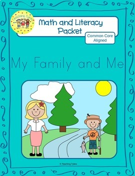My Family and Me Worksheets Emergent Reader Task Cards