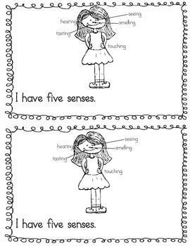 Me and My Five Senses Emergent Reader