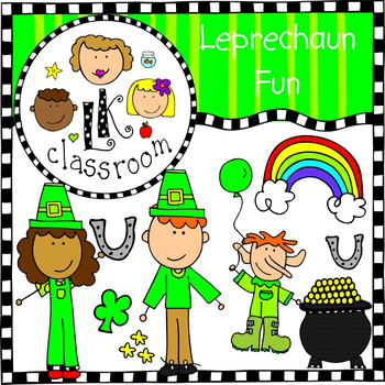 St Patrick's Day Leprechaun Fun Clip Art (Me and My Peeps)
