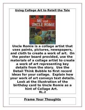 Me and Uncle Romie Activity Menu/Literacy Centers