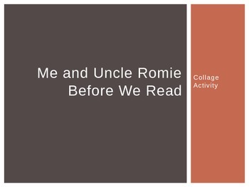 Me and Uncle Romie Collage Activity