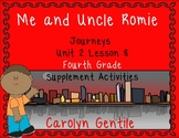Me and Uncle Romie Journeys Unit 2 Lesson 8 Fourth Grade Sup. Act.