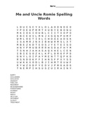 Me and Uncle Romie Spelling Word Search