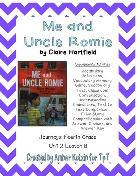 Me and Uncle Romie Supplemental Activities 4th Grade Journ