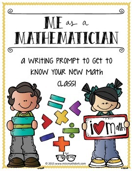 Me as a Mathematician: a back to school, get to know you writing prompt!