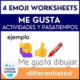 Spanish Me gusta Practice with Emojis - Actividades y Pasatiempos
