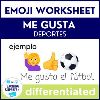 Spanish Me Gusta Deportes Sports Emoji Puzzles Worksheets Tpt