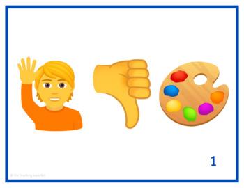 Me gusta Task Cards with Emojis - Pasatiempos