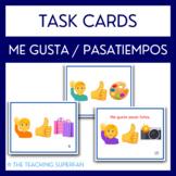 Spanish Me gusta Task Cards with Emoji Puzzles - Pasatiempos