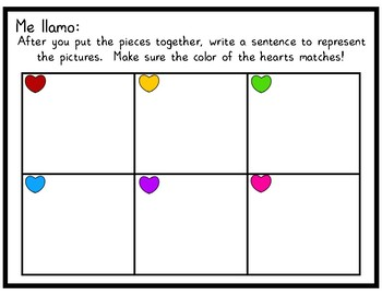 Me gusta and No me gusta, Reading and Writing Activity!