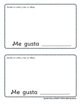 Me gusta moverme: A beginning Spanish verb workbook/reader