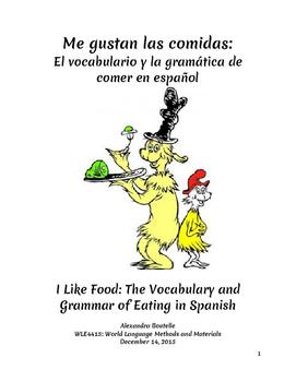 Me gustan las comidas: A Beginning Spanish Unit