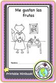 Me gustan las frutas INTERACTIVE PRINTABLE MINIBOOK Spanish Resources