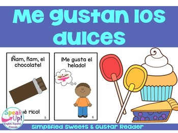 Me gustan los dulces Spanish Emergent Reader {Dual languag