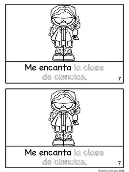 Me gustan mis clases Spanish Verb Gustar School Classes Reader & Build-A-Book
