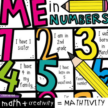 Me in Numbers - All About Me Poster Activity