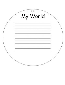 Me in the World Geography Circle Booklet