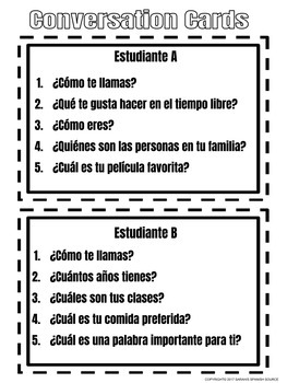 All About Me in Spanish ¿Quién Soy Yo? Student Information Activity