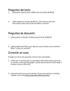 Me llamo María Isabel Literature Circle Packet (Spanish)