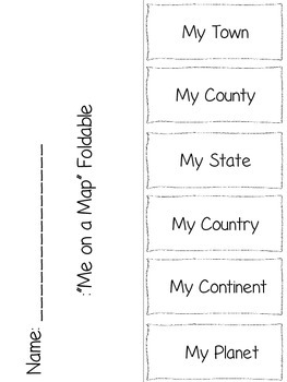 Me on a Map Foldable