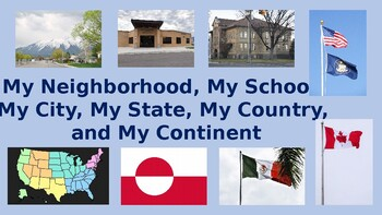 Me on a Map of My Home, City, State, Country, and Continent: PowerPoint Activity