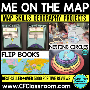 Me on the Map Flip Book | Map Skills | Globes | Geography | Social Studies