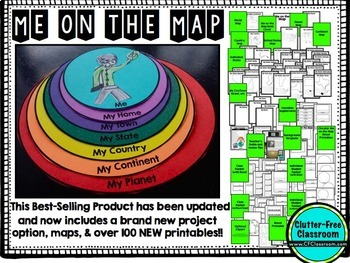 Me on the Map Flip Book | Map Skills | Map Activities | Geography