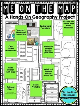 Me on the Map - AUSTRALIA - A Geography & Language Arts Project