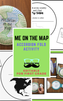 Me on the Map - Accordion Fold Activity