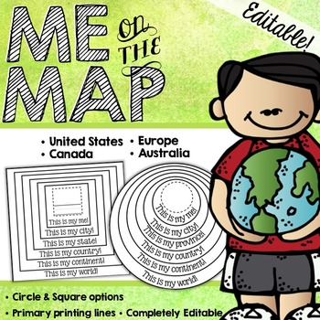 Me On The Map Book Me on the Map Circle Book EDITABLE! by Heaps of Firsts | TpT Me On The Map Book