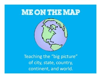 Me on the Map - Connection Craft - Understanding City, State, Country, Continent