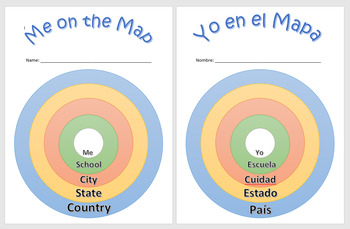 Me on the Map - English and Spanish