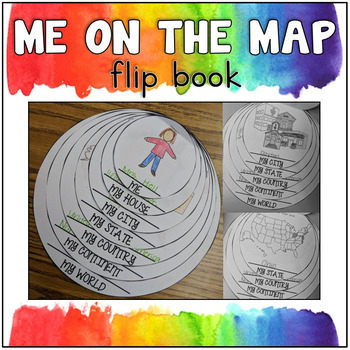 Me on the Map Flip Book