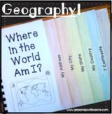 Me on the Map Flip Book Activities ⭐ 1st Grade Social Studies