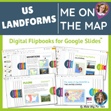 Me on the Map Flip Book   US Landforms   Landforms Activities   Google Classroom
