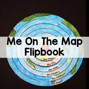 Me on the Map Flipbook Map Skills Activity