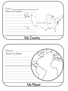 Me on the Map Geography Activity