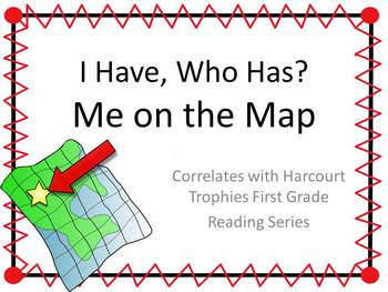 "Me on the Map ""I HAVE, WHO HAS?"" Sight Word Practice for Harcourt Trophies"