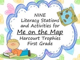 Me on the Map Literacy Stations for Harcourt Trophies First Grade