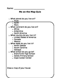 Me on the Map Quiz (EDITABLE)