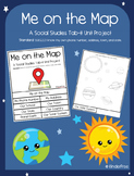 Me on the Map (Social Studies Tab-it Project) SS.K.G.2.2