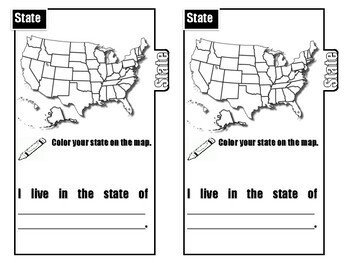 Me on the Map   Social Studies (Tab Booklet)