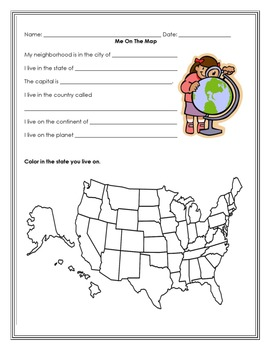 Me on the Map - book and quiz (FREEBIE)