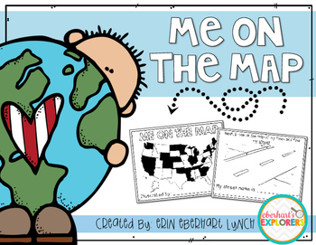 Me On The Map Book Me on the Map mini book by Erin Eberhart Lynch | TpT Me On The Map Book