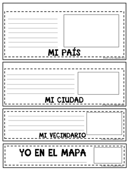 Me on the map foldable {SPANISH} -Yo en el mapa-