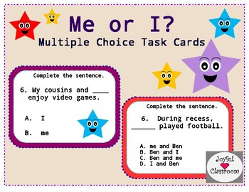 Me or I Task Cards