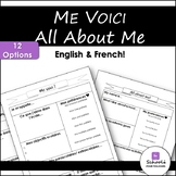 Me voici - All About Me Sheet - ENGLISH AND FRENCH